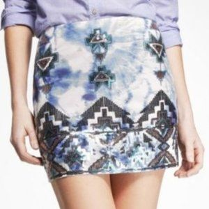EXPRESS TIE DYE SEQUINS SKIRT S